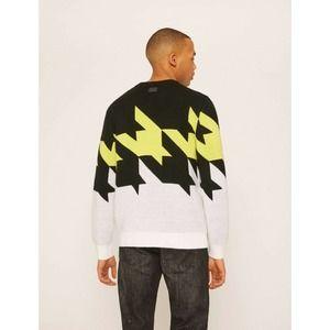 Armani Exchange Oversized Houndstooth KnitSweater